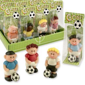 présentoir footballeurs assortis en pâte d'amande france decor