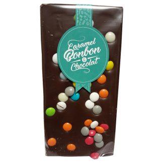 tablette chocolat lait pastille colorée Caramel Bonbon & Chocolat
