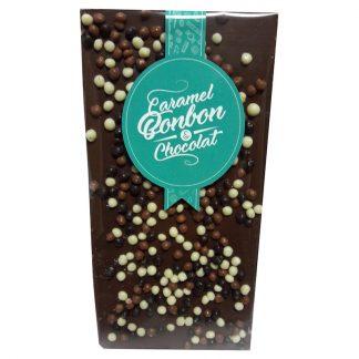 tablette chocolat lait céréale croustillante Caramel Bonbon & Chocolat