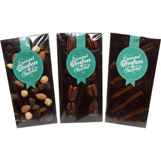 assortiment tablette chocolat noir Caramel Bonbon & Chocolat